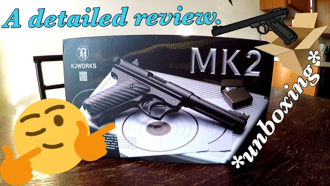 Critique du Kjw Mk2   Test de tir au pistolet Airsoft Co2 NonBlowback !!!