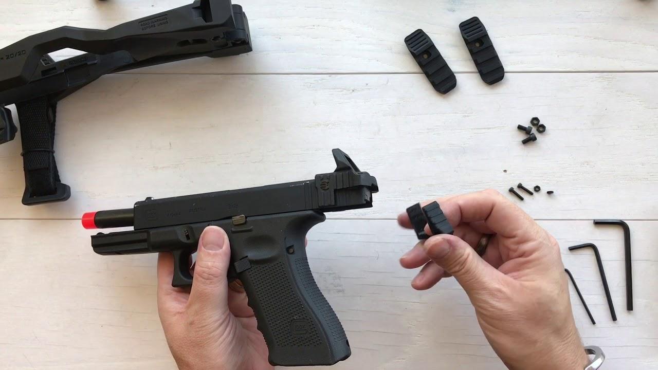 Récupérer l'entretoise stabilisatrice Tactical 20/20 pour Glock – Déballage, installation, révision et test avec Airsoft