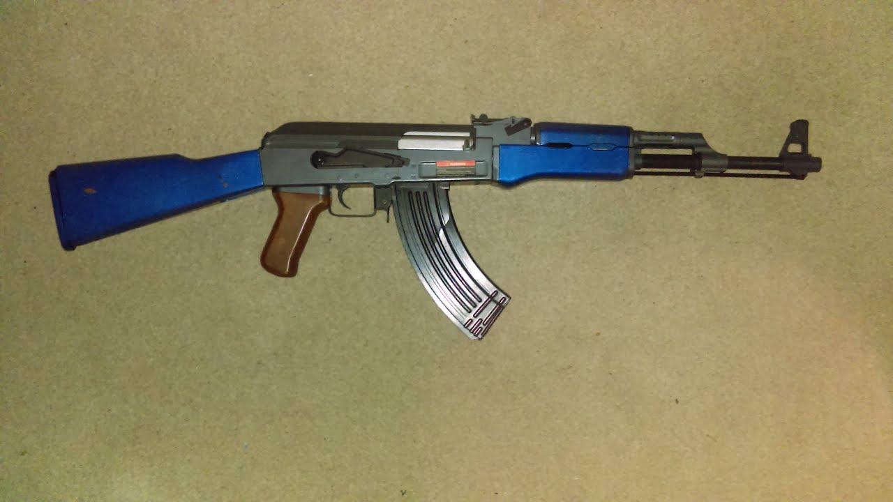 Revue Airsoft de la pleine grandeur, AK 47 AEG par CYMA en bleu deux tons (CM028)