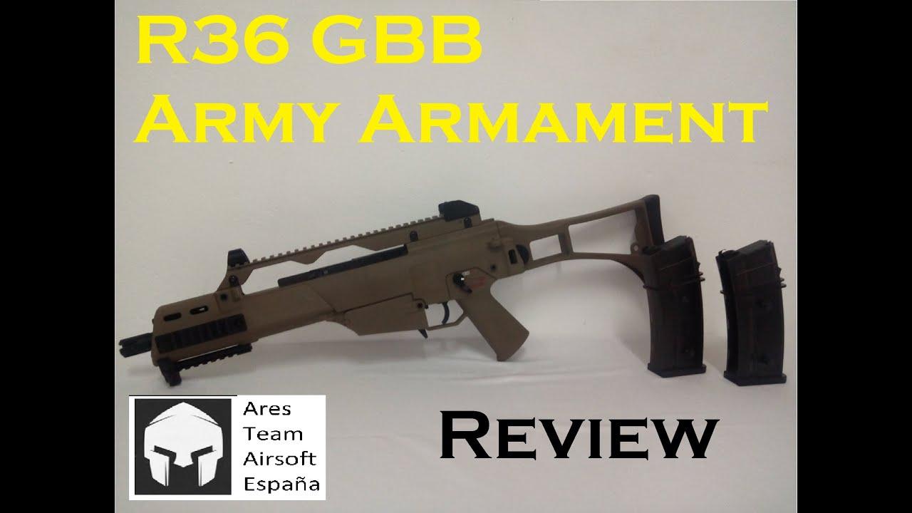 examen approfondi de l'armement de l'armée r36 [ Ares Team Airsoft ]