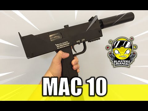 MAC 10 GEL BLASTER (Déballage, examen et tests FPS) – Blasters Mania
