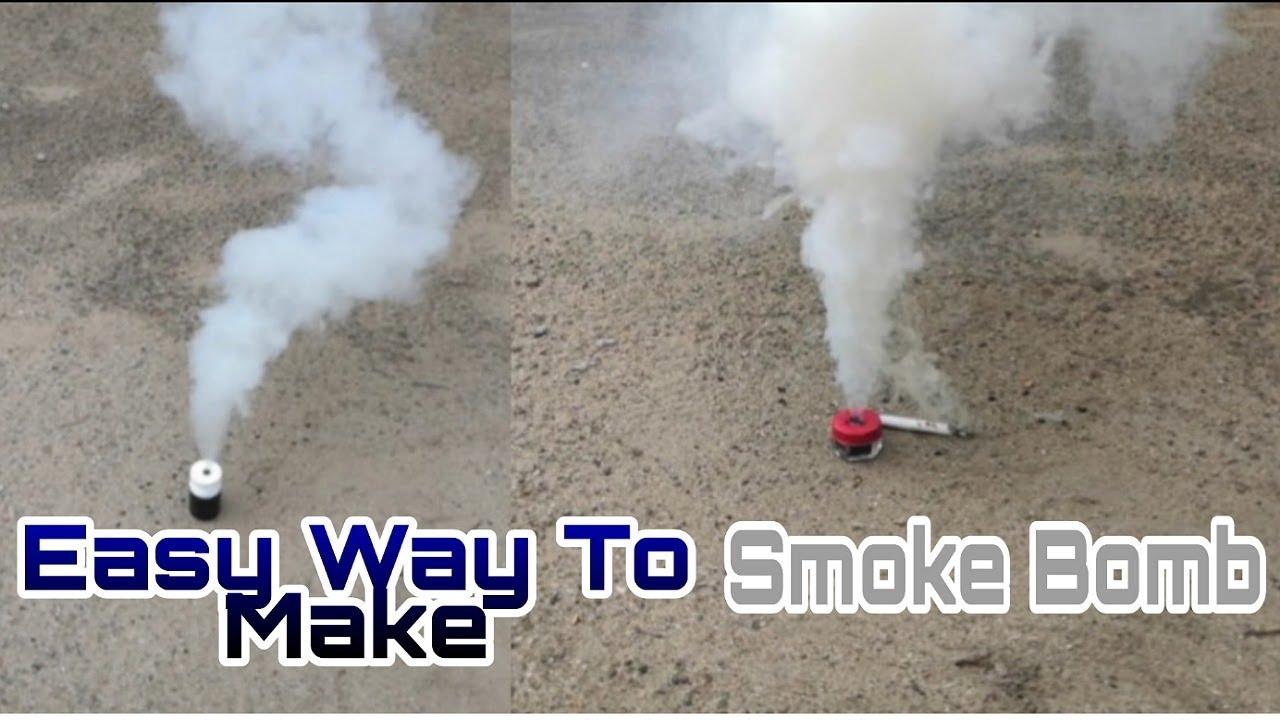 Comment fabriquer une bombe fumigène à partir de matchs de sécurité   Bombe à fumée bricolage facile et simple