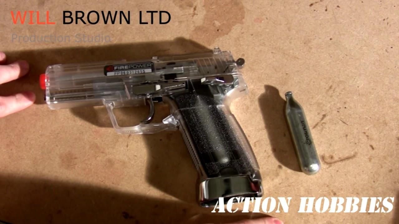 Falco Firepower UPS CO2 Pistolet BB Gun Airsoft Review