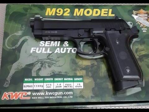 Examen entièrement automatique / semi-automatique du bras latéral M92 Airsoft et test de fonctionnement.