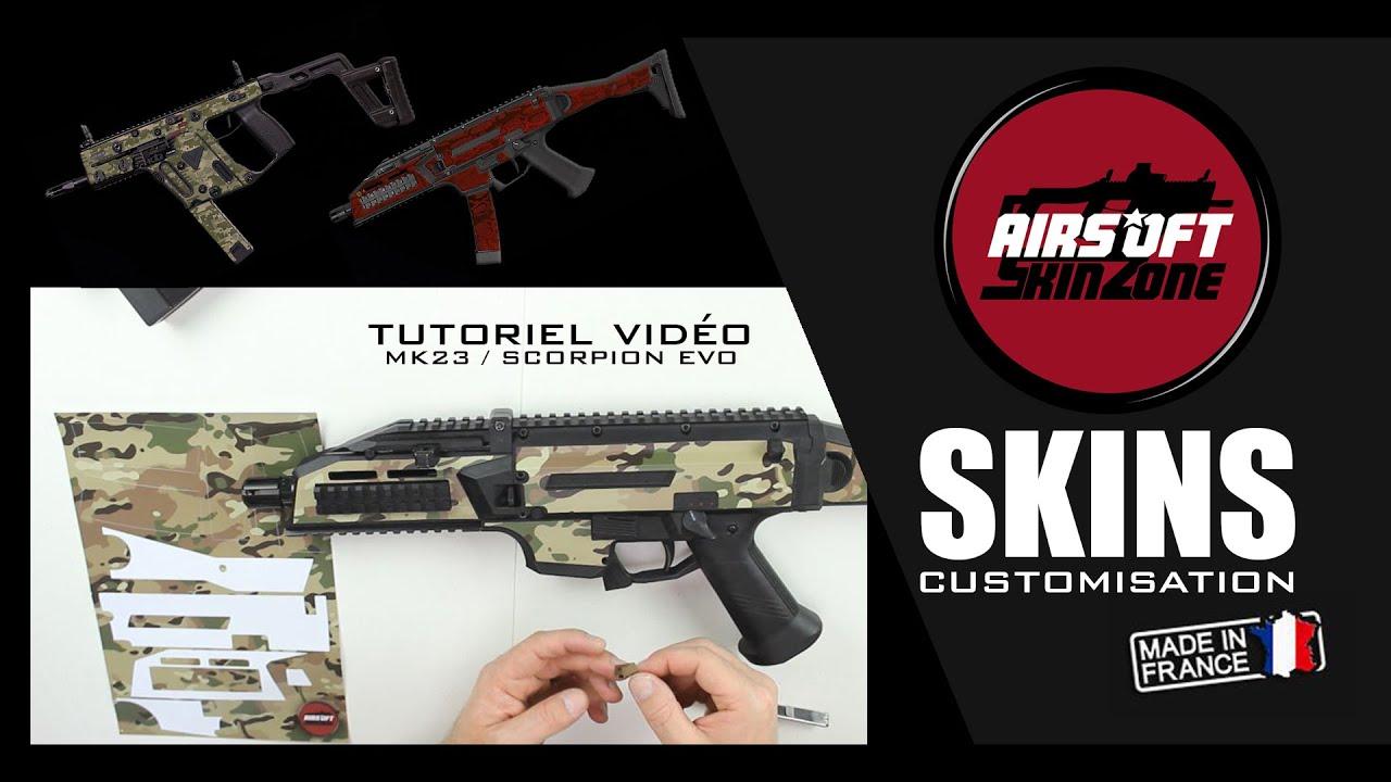 SKINS CUSTOMISATION / AIRSOFT SKIN ZONE / MK23 # SCORPION EVO / AIRSOFT REVIEW