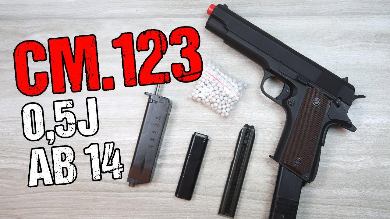 Pistolet Airsoft Cyma CM.123   Évaluation de l'allemand