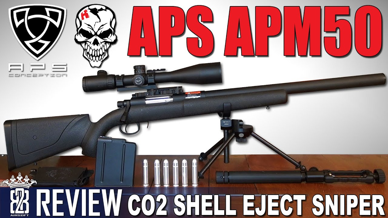 APS APM50 Shell Ejecting CO2 Airsoft Sniper Rifle – Review German