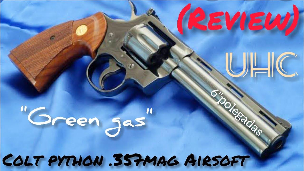 Revolver Colt Python airsoft .357Mag gaz vert (Review)