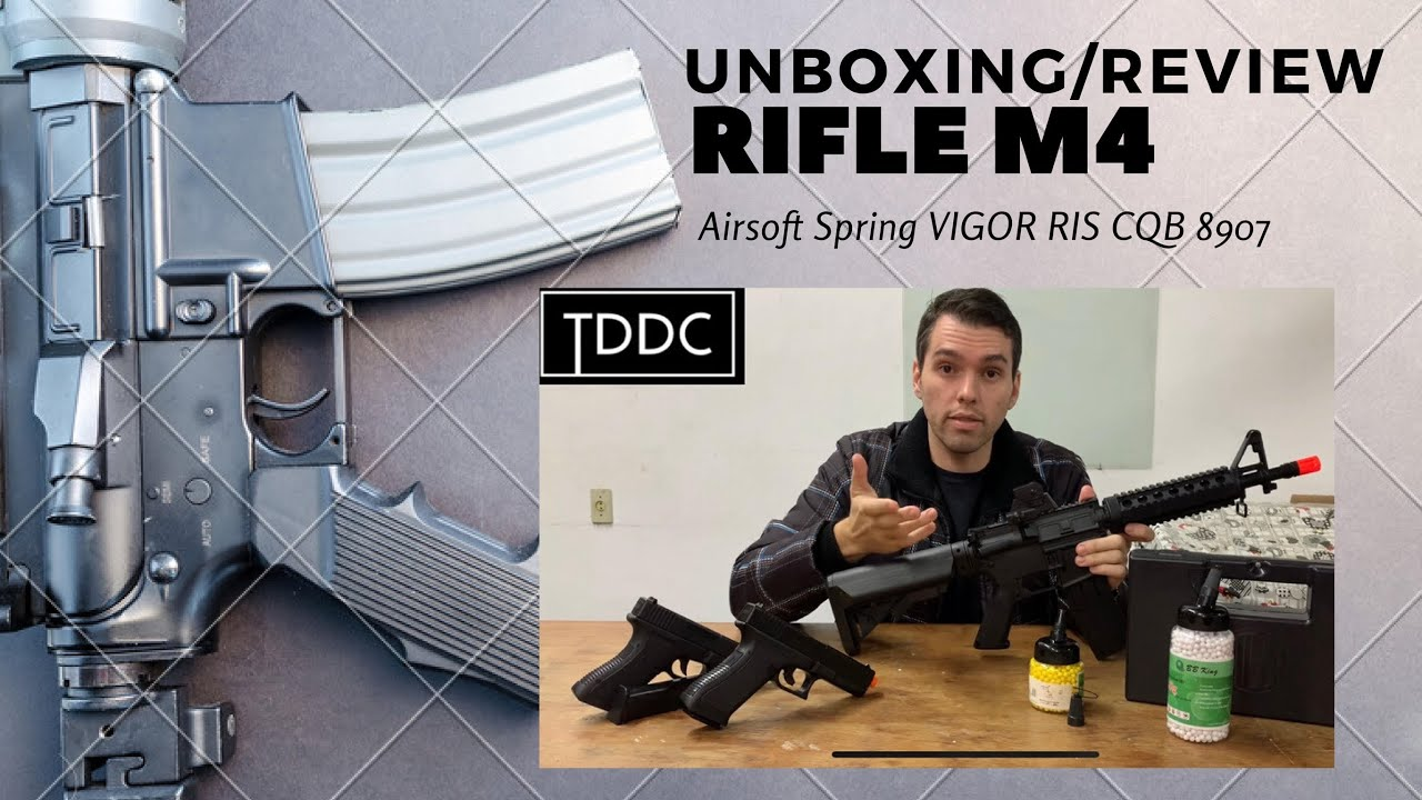 Airsoft Rifle Spring (Spring) VIGOR M4 RIS CQB 8907 – Unboxing / Review