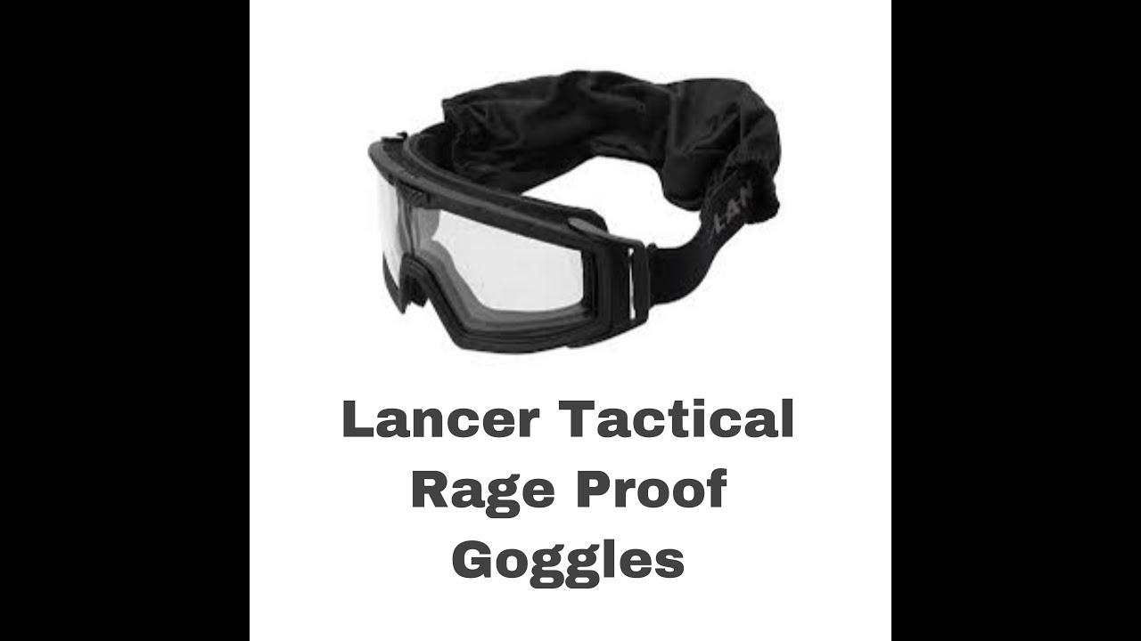 Revue des lunettes Airsoft Lancer Tactical Rage Proof