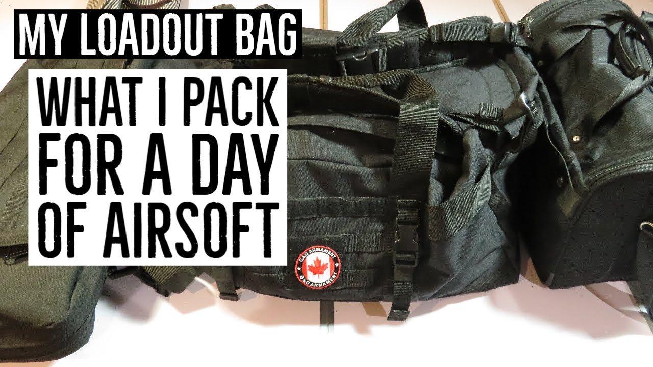 Mon sac de chargement   Ce que j'emballe pour une journée d'airsoft