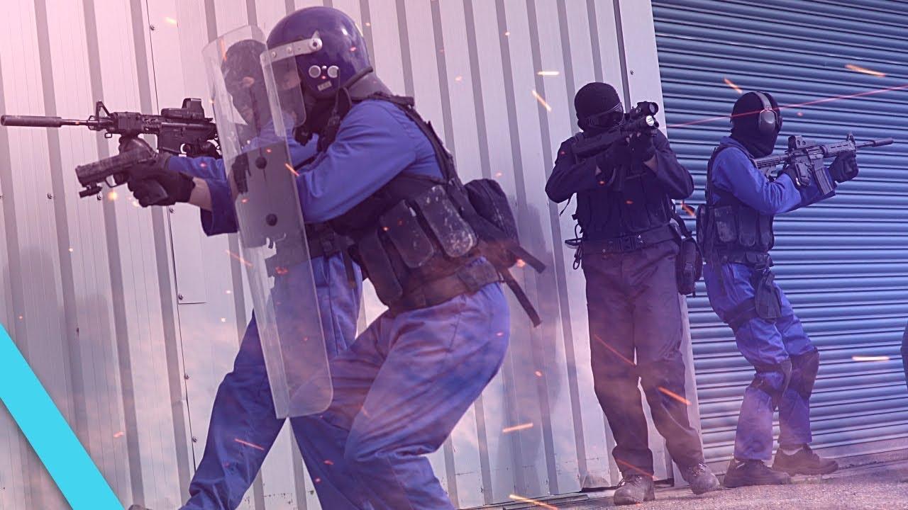 Guerre d'Airsoft – SWAT SIEGE | TrueMOBSTER