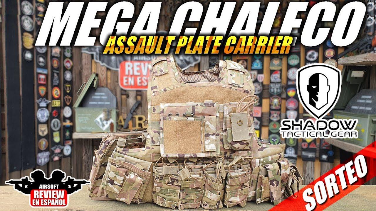 MEGA VEST !!! SUPPORT DE PLAQUE D'ASSAUT par Shadow Tactical Gear + DRAW🎁🎁   Revue Airsoft en espagnol