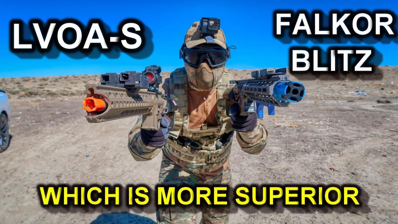 Examen honnête: EMG Falkor Blitz vs Krytac LVOA-S! Quelle arme Airsoft d'origine est la PLUS SUPÉRIEURE?
