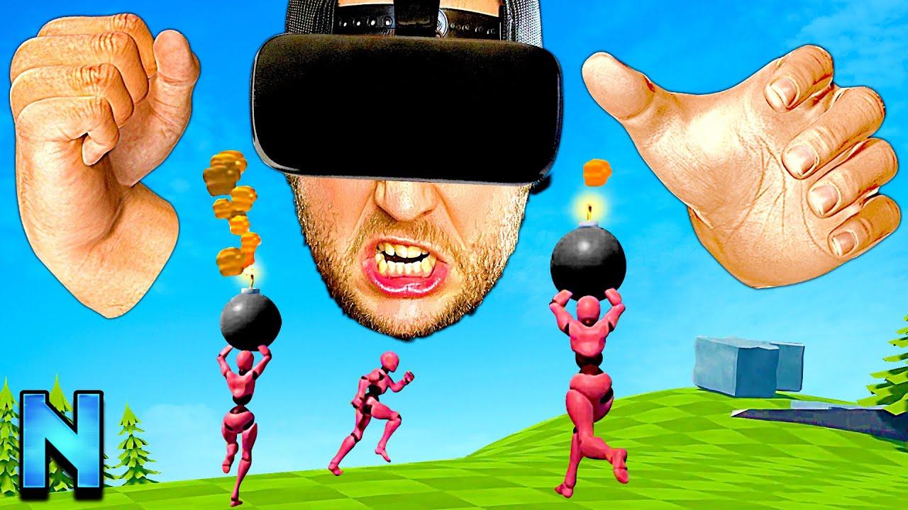 Vous n'avez JAMAIS vu le multijoueur COMME CELA – Goliath en VR vs Davids sur PC!