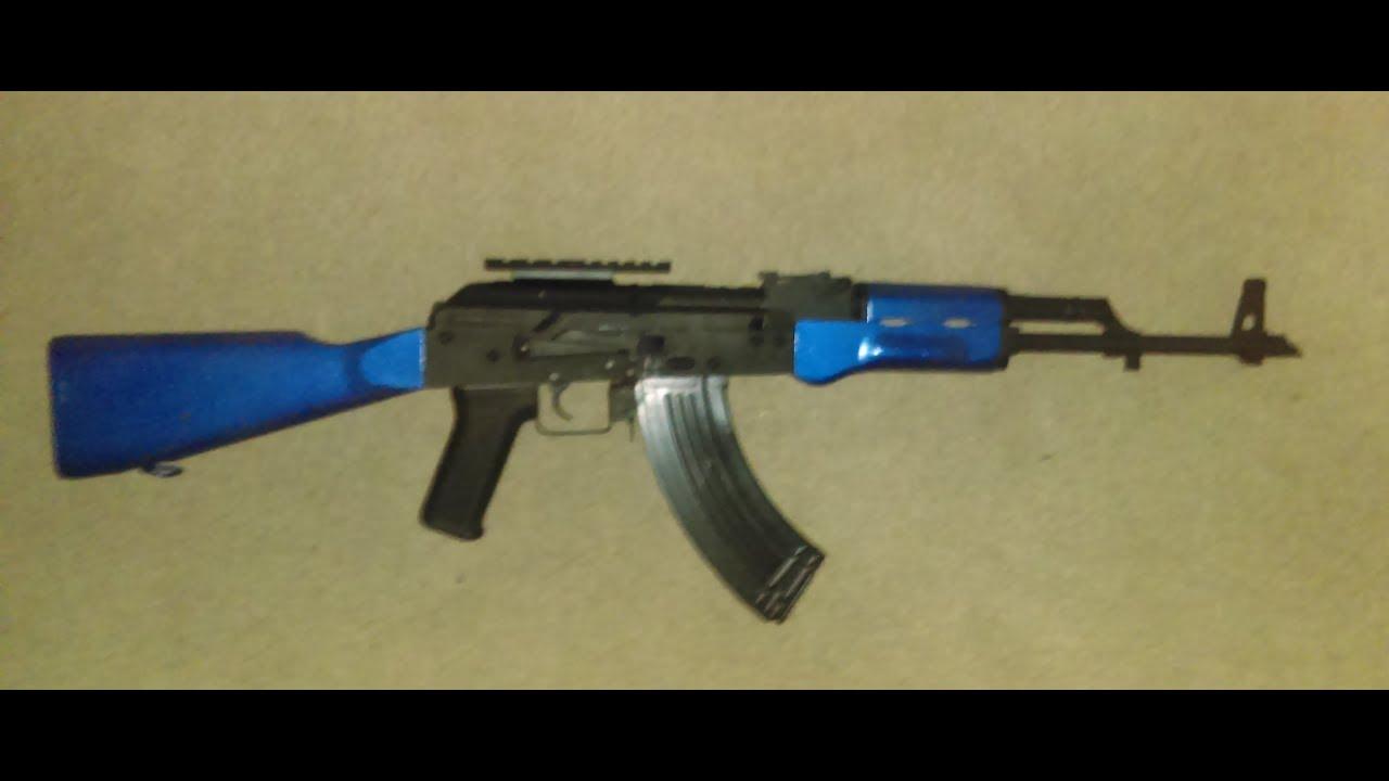 Test Airsoft du fusil AKM AEG Kalasknikov de Cybergun en bleu bicolore