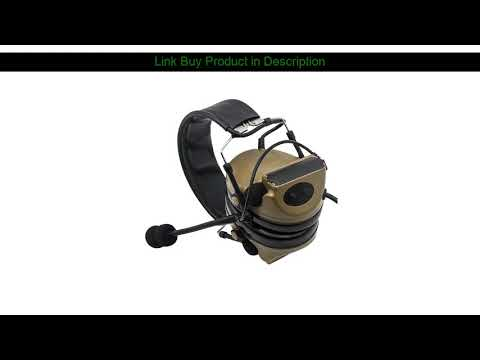 Examen Tactical Comtac II Airsoft Military Headset Pickup Réduction du bruit Casque Shooting Hunti