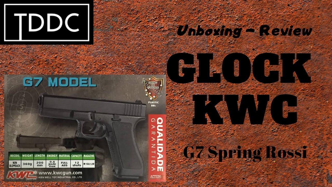Pistolet Airsoft Rossi KWC Glock G7 Spring 6mm – Déballage / Test