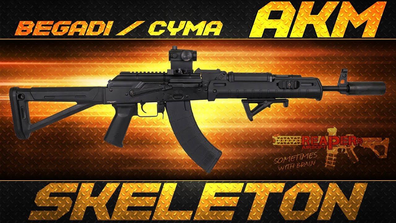 [Review] Begadi / Cyma AKM Skeleton Gen.2 (AK74, AK47, AKS) 6 mm Airsoft / Softair 4K UHD