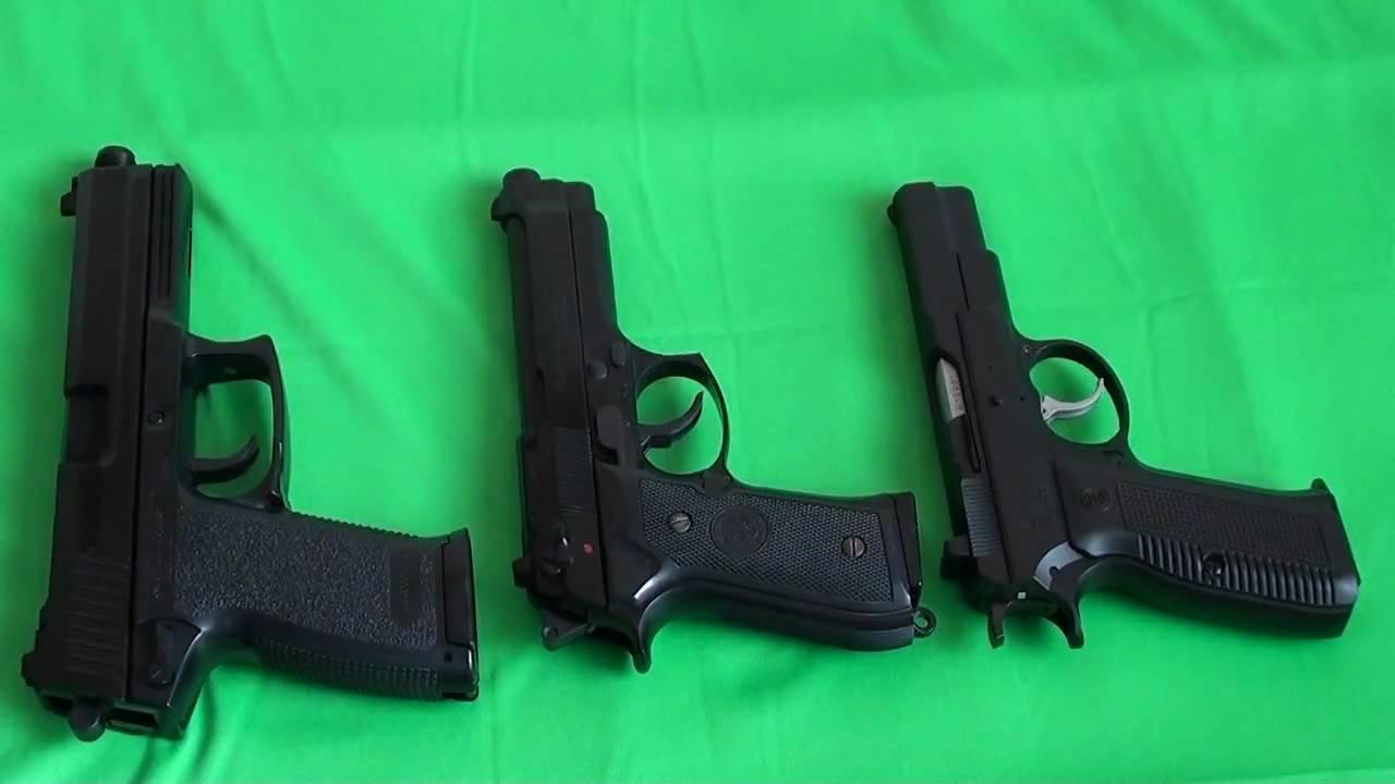 Revue des pistolets Airsoft: pistolets manuels Tokyo Marui: Socom Mk23, Beretta M92F, Cz75 Part 2
