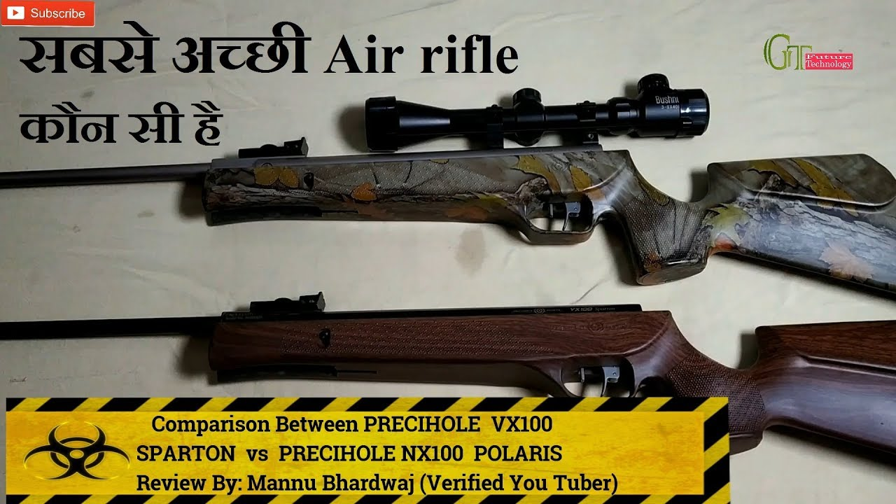 Précihole VX100 Sparton vs carabine Precihole NX100 Polaris Air   Lequel est le meilleur