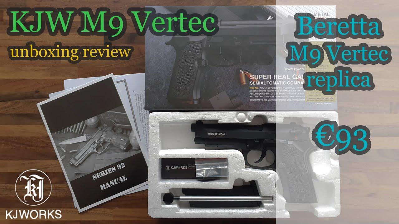 KJW M9 Vertec GBB (réplique Beretta M9 Vertec) Unboxing & Review