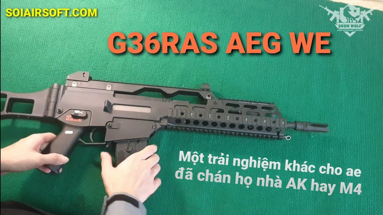 # SOIAIRSOFT.NET – WE G36 RAS (WE999RAS) AEG Pistolets airsoft abordables