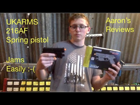 216AF UKARMS Spring Airsoft Pistol & Laser Review