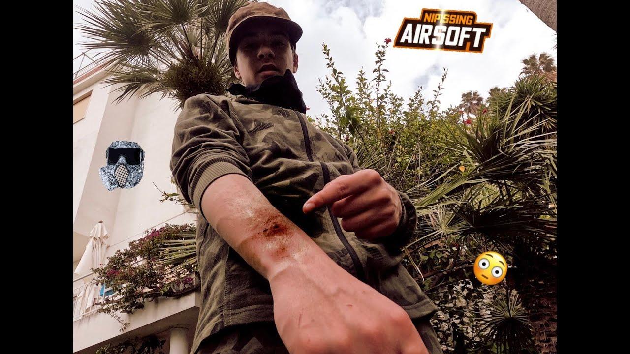 Airsoft battle 1 vs 1 (par Gopro 8) (lien pistolets dans la description)
