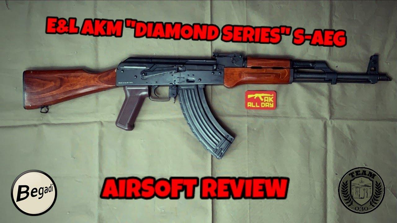 """[REVIEW] E&L Emei Landarms AKM AK47 S-AEG """"Diamond Series"""" Airsoft Test / Review deutsch / german"""