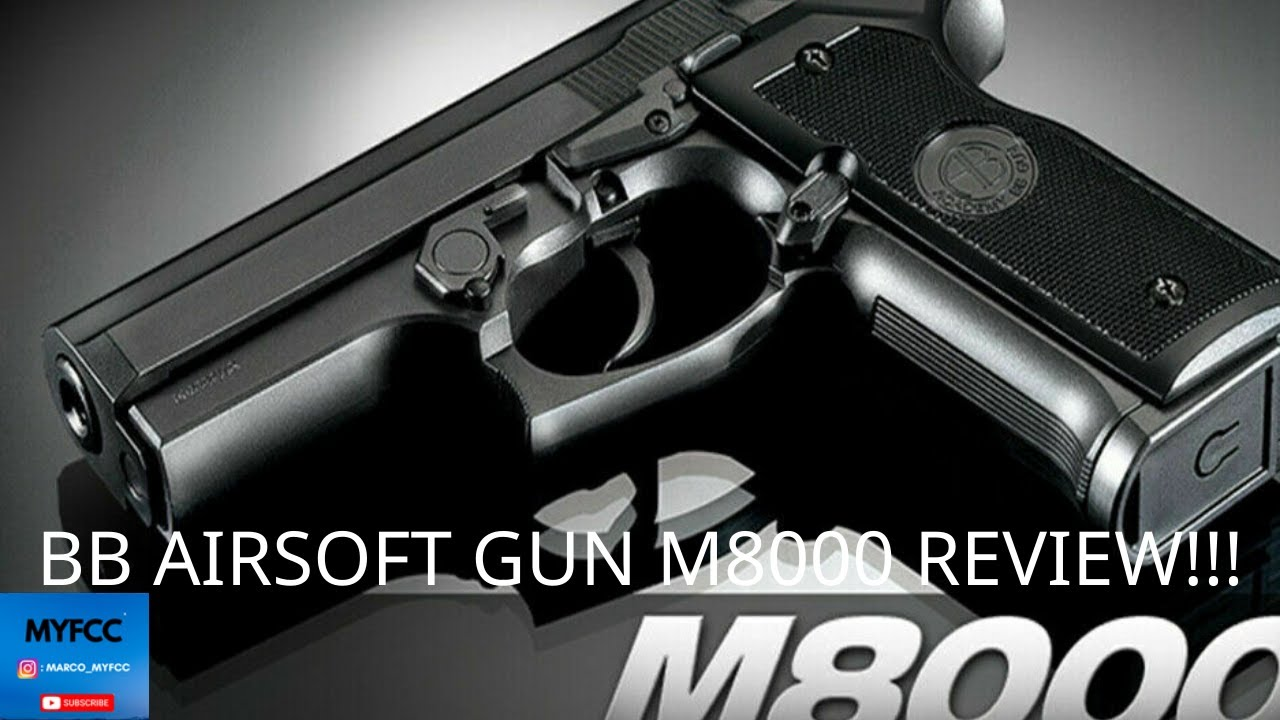 (SUPERBE PISTOLET !!!) BB AIRSOFT GUN M8000 REVUE ET TUTORIEL !!!