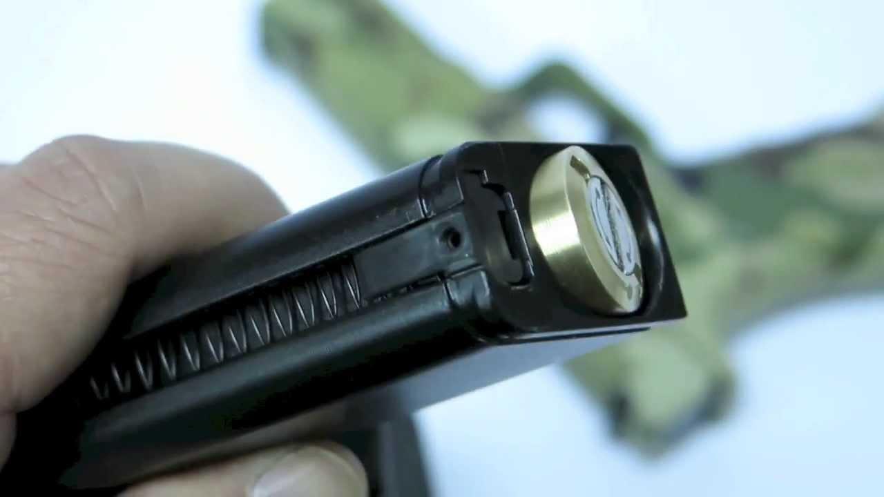 Pistolet à CO2 ACP Nouveau design du capuchon d'extrémité par APS Airsoft