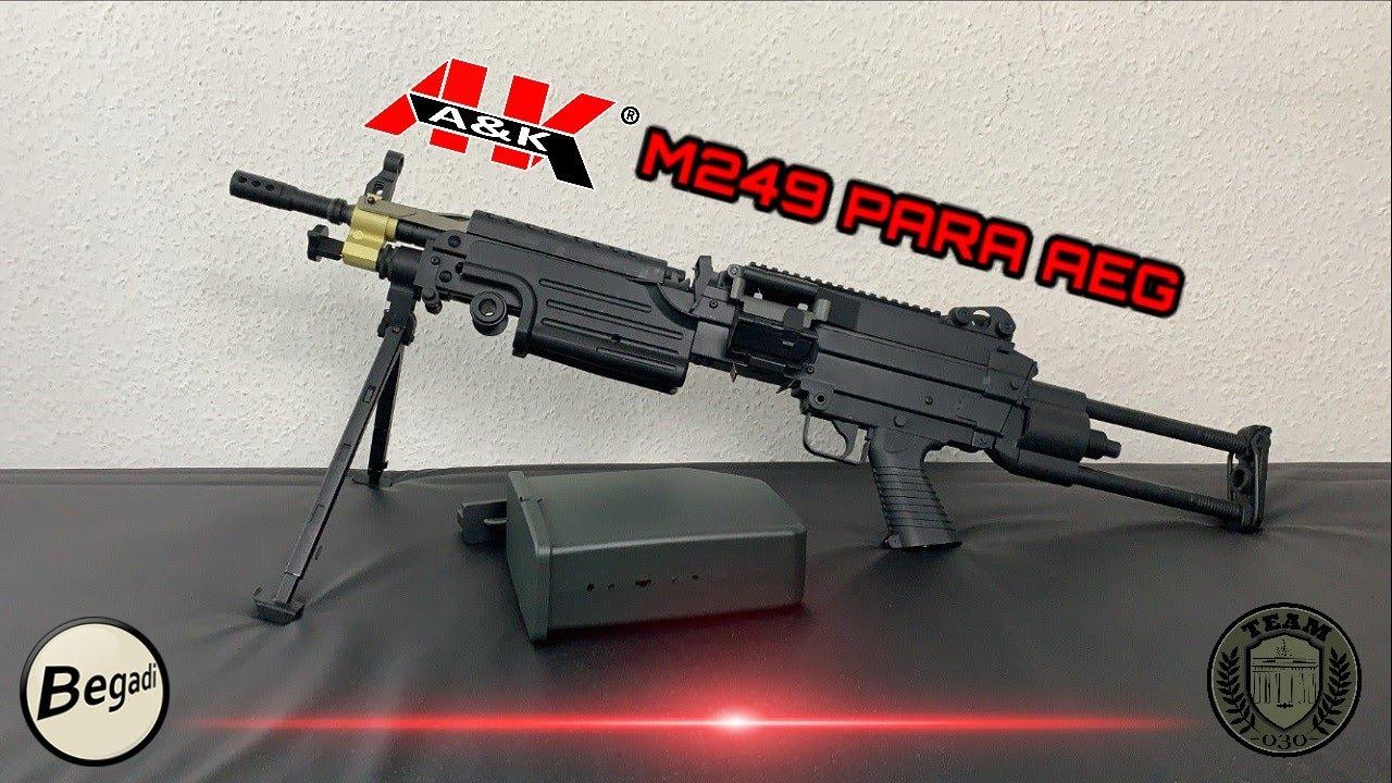[REVIEW] A&K M249 PARA AEG LMG Airsoft Review deutsch / german TEAM-030-AIRSOFT