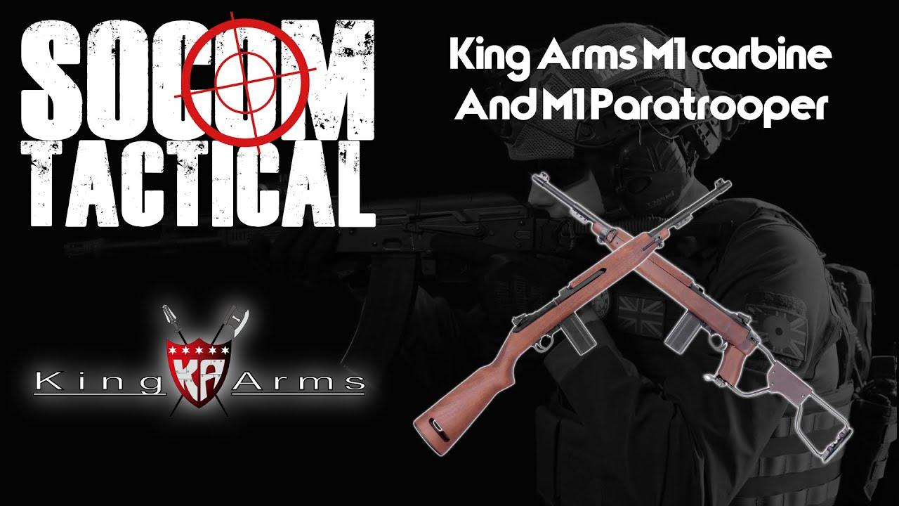 King Arms M1 Carabine et M1 parachutiste examen
