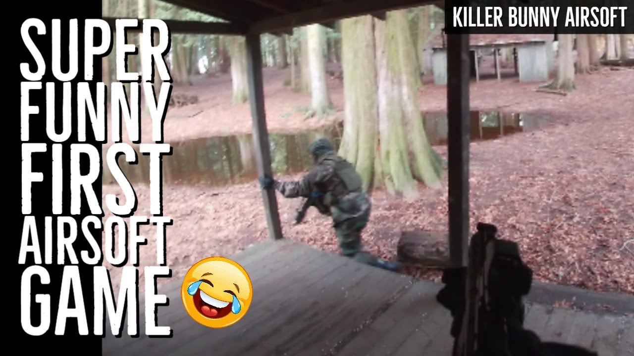 Super Funny First Airsoft Game