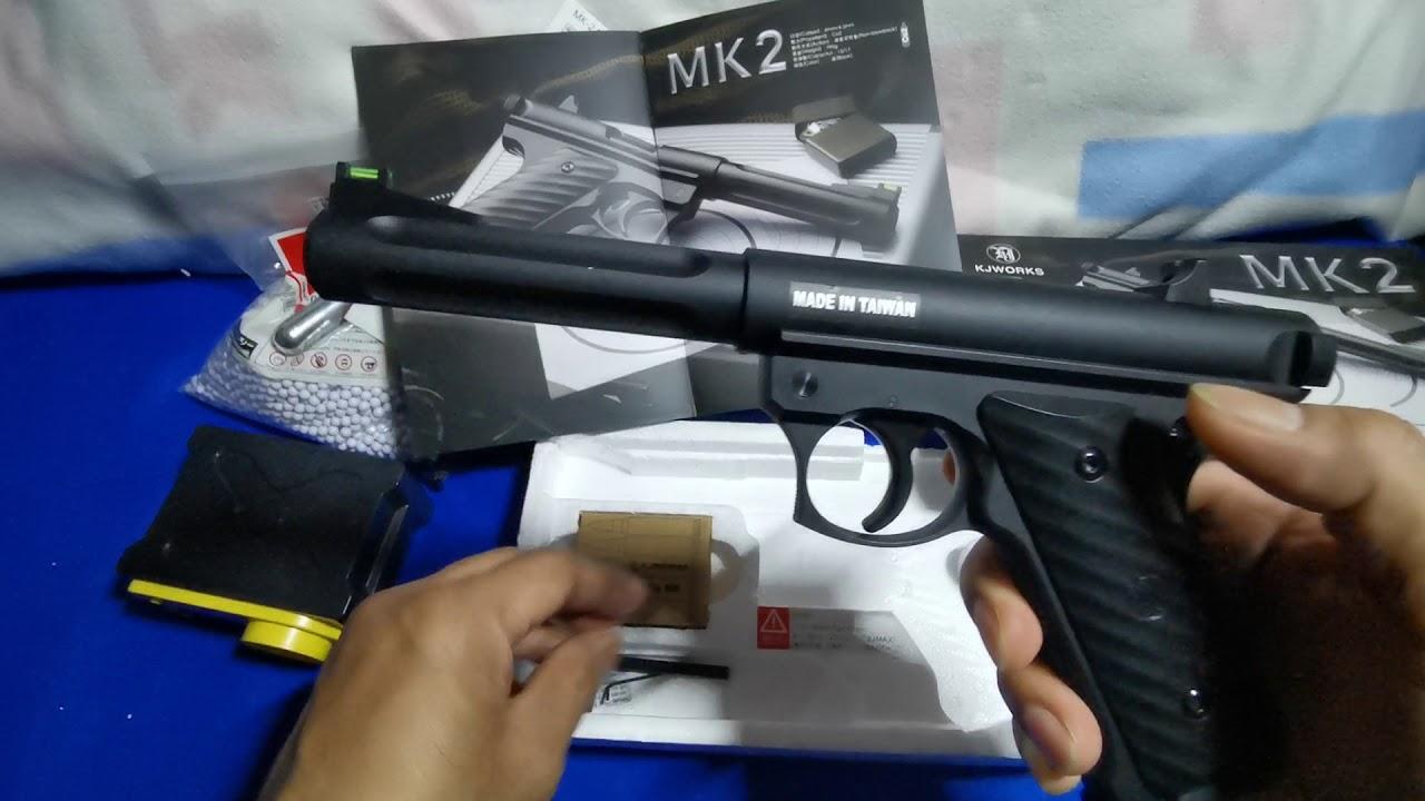 MK2- KJWORKS. Pistolet Airsoft sans retour de flamme. # 07
