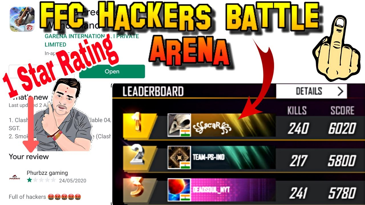 FFC HACKERS FREE FIRE CUP║FREEFIRE HACKERS BATTLE ARENA TOURNAMENT║TOTAL GAMING║SKYLORD FREE FIRE🤬🤬