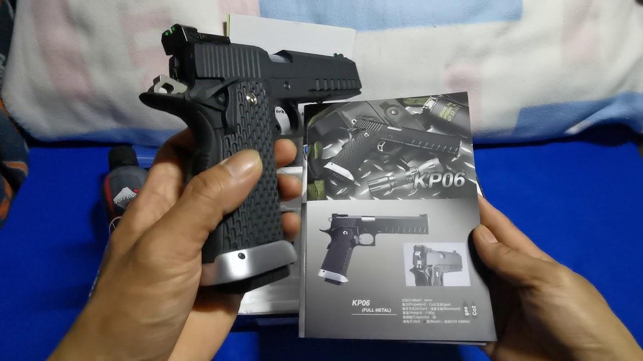 Pistolet Airsoft KJWORKS KP-06 Gas Blowback. # 06