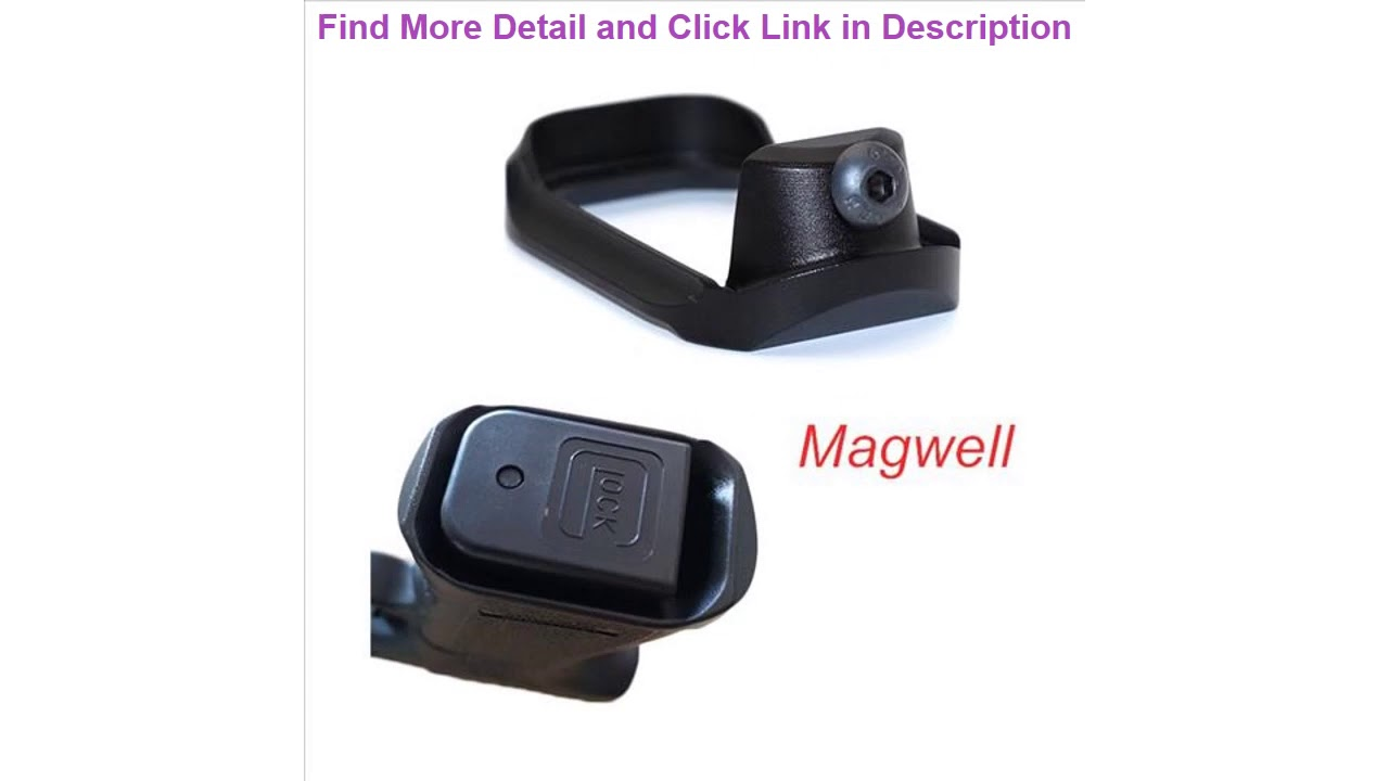 Revue Airsoft Tactical Magwell pour Glock 17 19 23 32 38 Gen 3 Gen 4 Pistol Magazine Grip Glock Loa