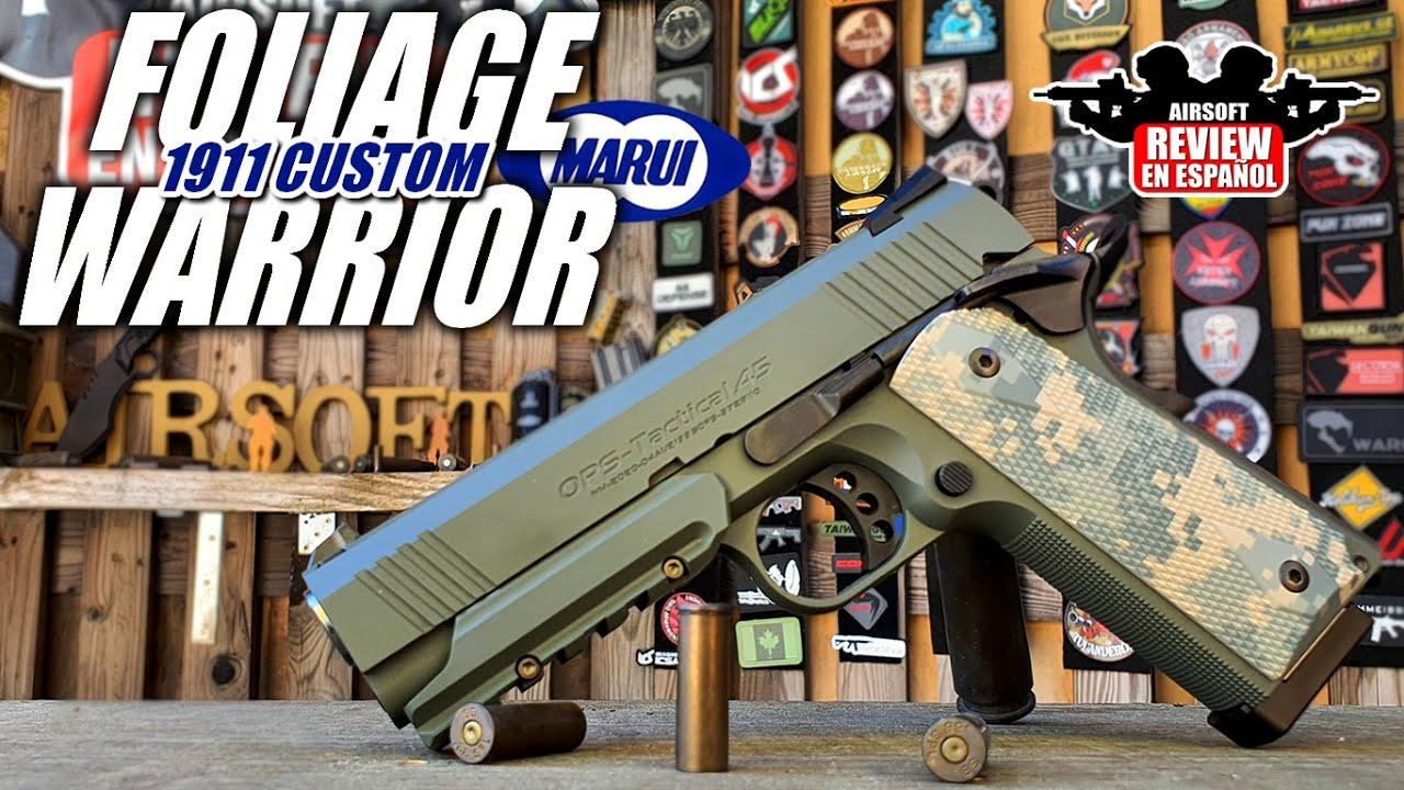 1911 CUSTOM Foliage Warrior un pistolet avec camouflage!   Revue Airsoft en espagnol