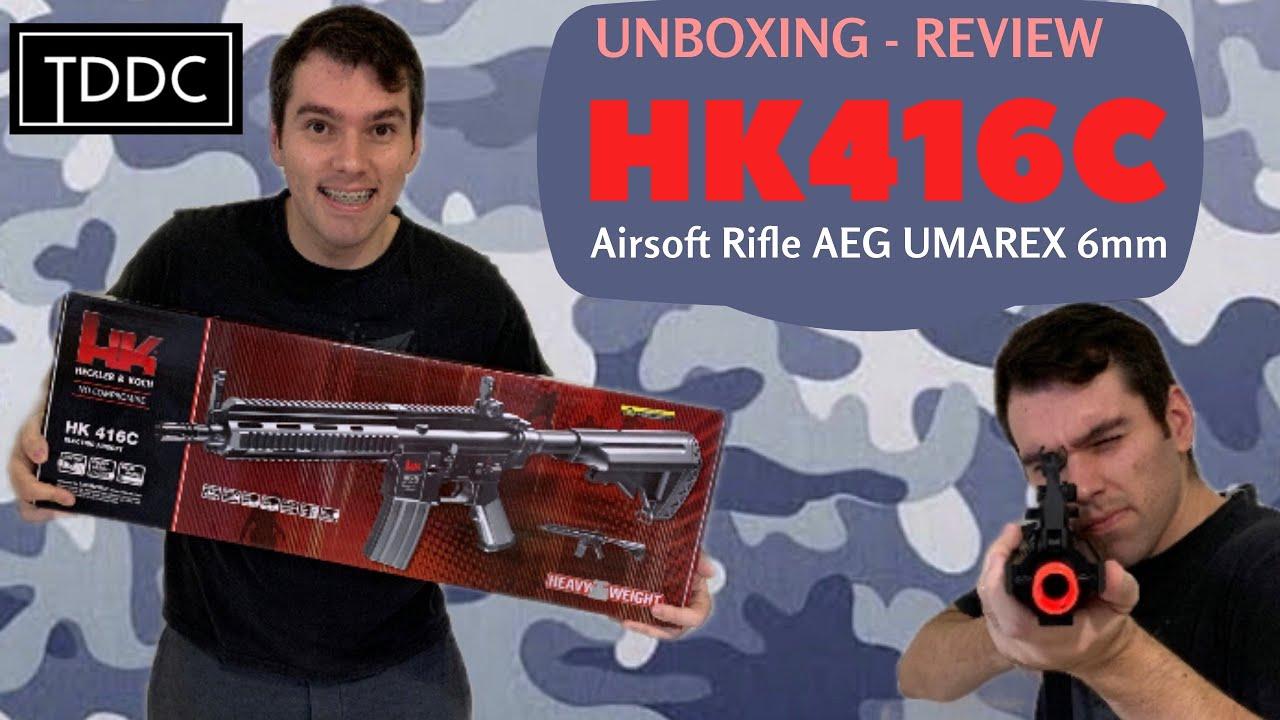 Déballage et examen du fusil HK 416C AEG 6 mm UMAREX