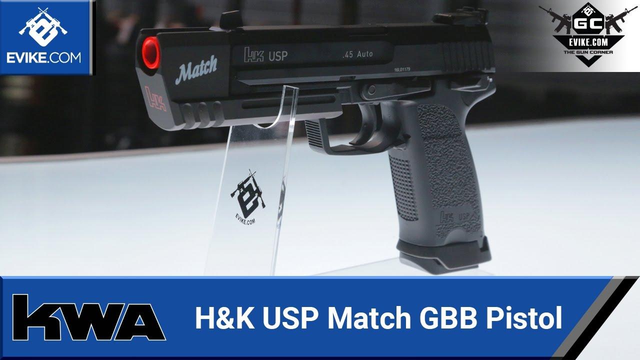 Pistolet GBB KWA H&K USP Match – Exclusivité Evike.com – [The Gun Corner] – Airsoft Evike.com