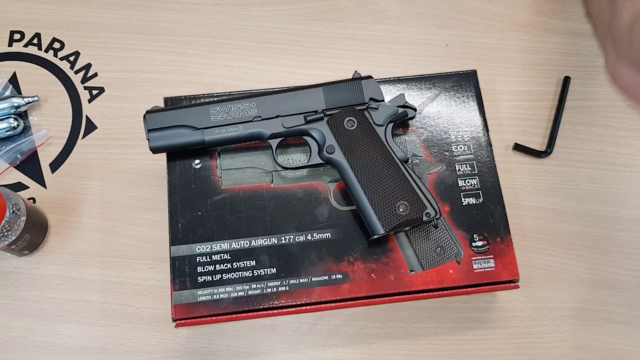 Pistolet CO2 Swiss Arms P1911