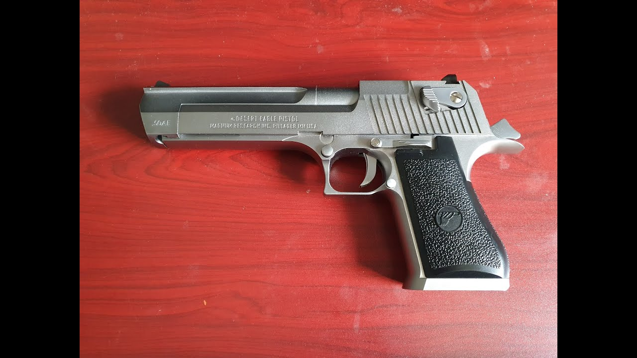 Mon premier pistolet airsoft au gaz vert l'aigle du désert (cybergun)