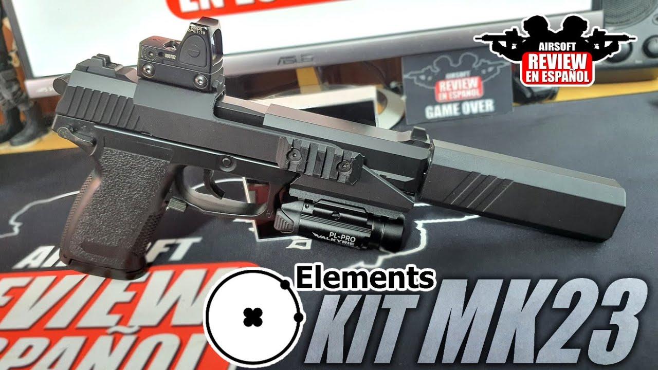 Personnalisez votre pistolet – ELEMENT Silencer and Ris KIT for MK23 | Revue Airsoft en espagnol