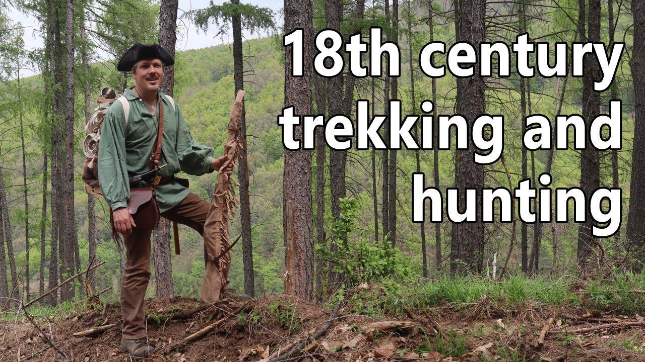 Trekking et chasse au XVIIIe siècle