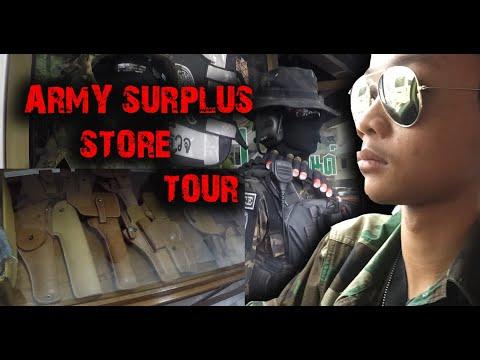 Visite du magasin de surplus de l'armée après le verrouillage