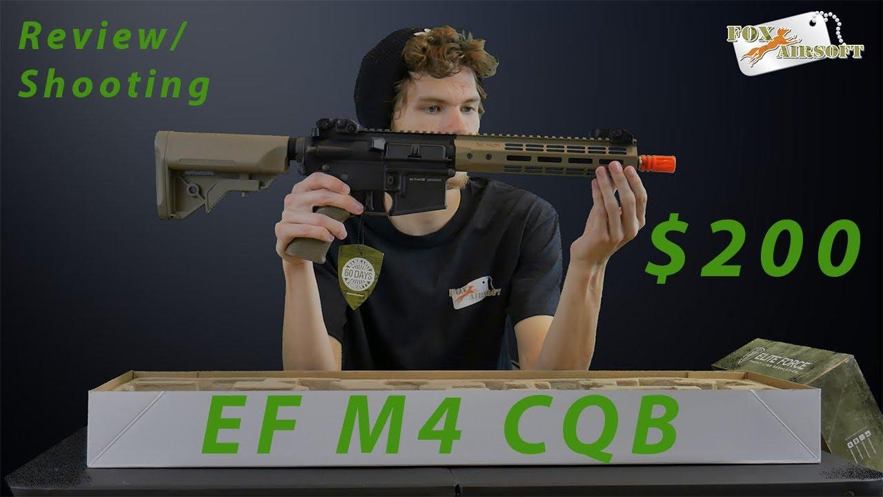Elite Force M4 CQB MLOK Review / Test de tir / Unboxing | Tout neuf