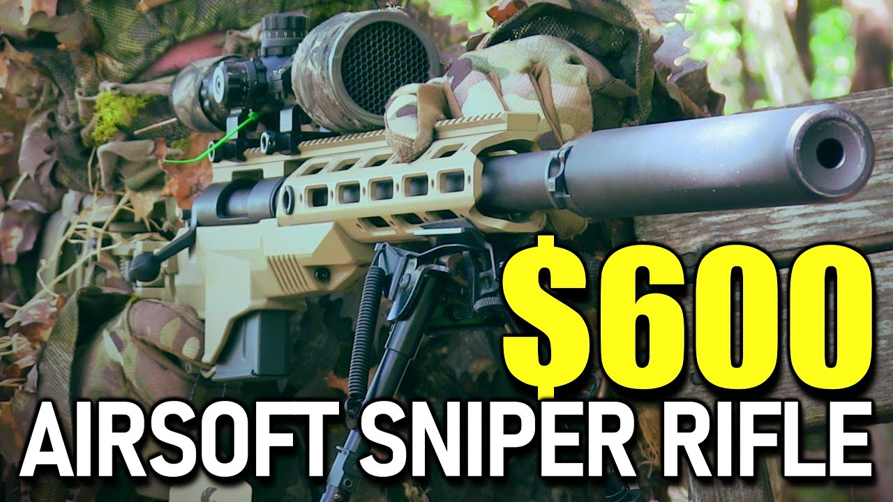 600 $ Airsoft Sniper Rifle Unboxing (Ares M40A6)
