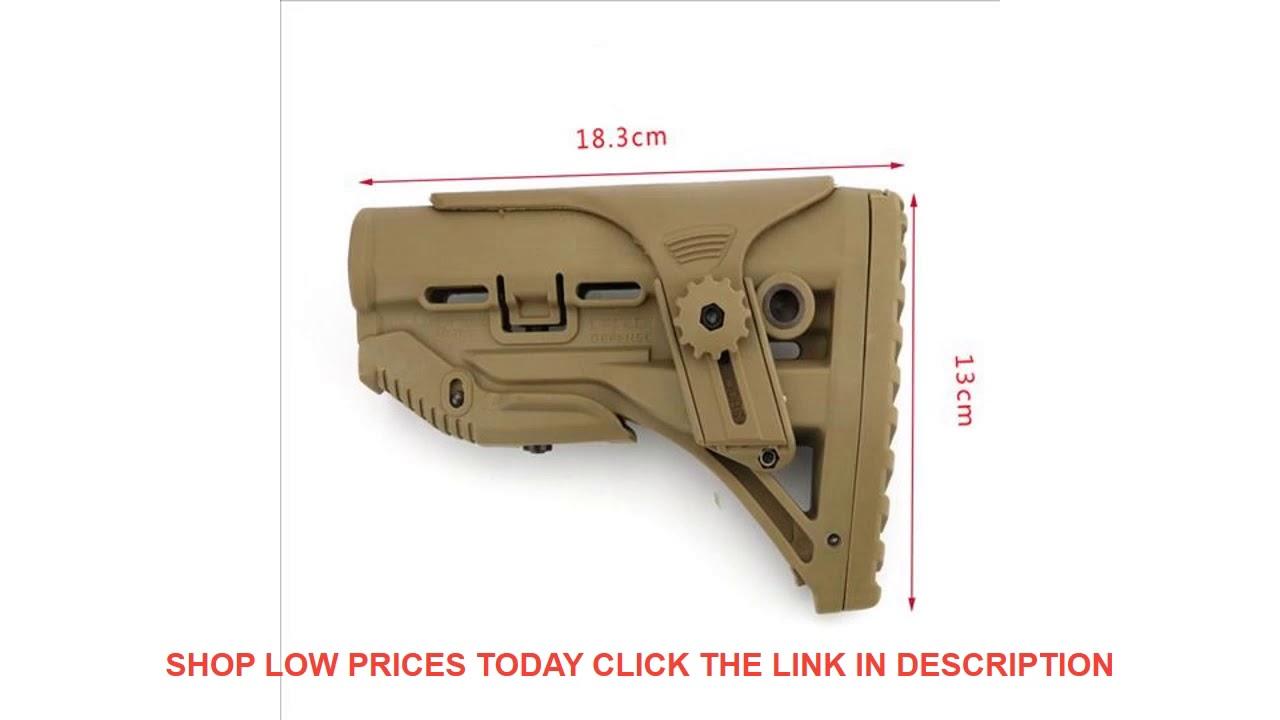 Avis Nylon réglable stock étendu pour accessoires de paintball Airsoft AEG M4 Gel Blaster J8 J9 C
